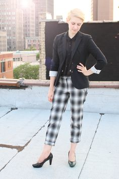 Pattern clashing is totally in style right now, learn why you need a pair of plaid pants for the fall right now!