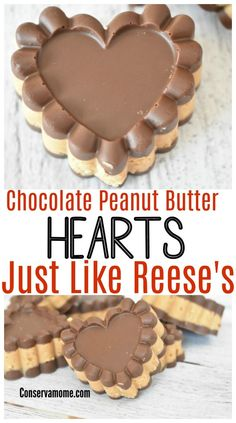 Looking for the delicious taste of Chocolate and peanut butter hearts at home? Then check out this delicious recipe that tastes just like Reese's Chocolate Peanut Butter Hearts.  #valentinesdaytreat #peanutbutter #valentinesday