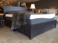 Solid maple platform bed with storage. Made right here in beautiful BC. No particle boards, mdf or veneers are used in this build. We have a variety of stain to chose from or you can have it painted in over 2000 colours! We ship to the majority of urban areas across Canada. www.thebedroomgallery.com