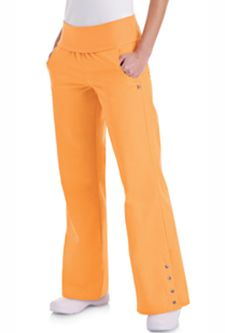 6304 Stretch Pant with Knit Waistband: Low rise pant with knit dyed-to-match waistband. Two front curved pockets, two back pockets, flare leg with 4 functional FX® signature snaps. Cute Medical Scrubs, Cute Scrubs, Scrubs Outfit, Scrubs Uniform, Medical Uniforms, Suit Accessories, Nursing Clothes, Scrub Pants, Stretch Pants