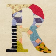 Letter embroidery
