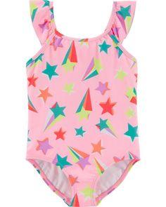 Cuekondy Kids Children Girls Swimsuit Bikini Two Piece Set Fashion Gradient Rainbow Striped Swimwear Beach Bathing Suit
