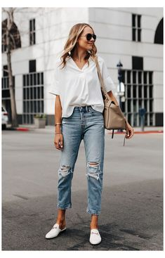 New Look Jeans, Looks Jeans, Jeans Style, Mode Outfits, Jean Outfits, Fashion Outfits, Fashion Trends, Jeans Fashion, Outfits With Mom Jeans