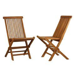 Vega Folding Dining Side Chair (Set of 2)