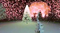 Футаж Боке -Зимний лес