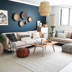 Home Living Room, Interior Design Living Room, Living Room Designs, Living Room Decor, Interior Decorating, Kitchen Interior, Decorating Kitchen, Living Room Accent Wall, Moroccan Decor Living Room