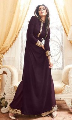LadyIndia.com # Designer Salwar Suit, Latest Designer Purple Georgette With Palazzo Pant Partywear 23548 Anarkali Suit, Anarkali Suit, Designer Salwar Suit, https://ladyindia.com/products/latest-designer-purple-georgette-with-palazzo-pant-partywear-23548-anarkali-suit