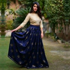 Beautiful Blue Color Partywear Semi Stitched Lehenga.