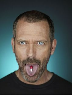 Hugh Laurie @Melody Howe---THOSE RED SUSPENDERS! :)