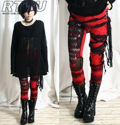 Ultra largo Goth Punk Rocker Grunge momia vendaje por runnickyrun