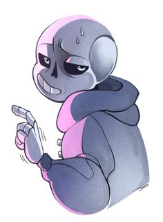Source: More undertale art before I go to bed. o/ An unhappy little Sans. Goodnight folks!