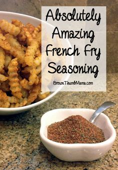 Frozen fries right out of the bag are pretty boring! But this easy #seasoning blend gives them just the right amount of zip--yummy for the adults and not too spicy for the kids. Don't miss the tip for getting baked fries to come out crunchy at the end of the article. #frenchfries #snack