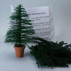 Make a Miniature Christmas Tree for a Village, Dollhouse or Railroad Scene