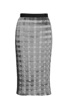Pleated Skirt With Raw Edge by Alexander Wang for Preorder on Moda Operandi