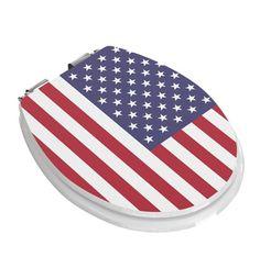 WC Sitz USA Flagge