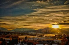 Sundown in Heber Valley Utah - By Alan Day