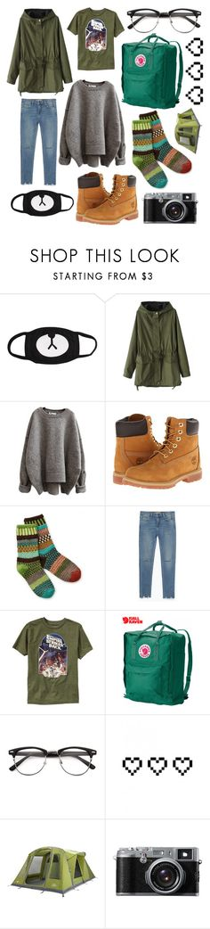 """camping"" by princessgeek86 ❤ liked on Polyvore featuring Timberland, Sol Mate Socks, Zara, Old Navy, Fjällräven, Retrò and John Lewis"