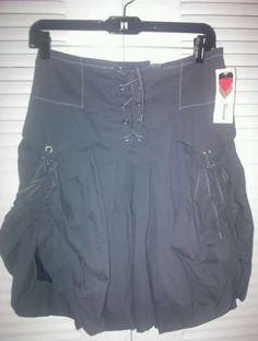 Bai Amour Paris Jupe Eden.T1.Casual Skirt.Grey Striped. NWT.