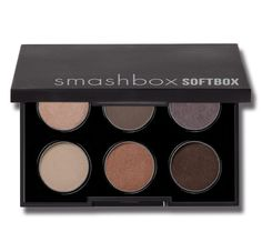 SMASHBOX soft box palette    This is my OBSESSION!! It has all of the daytime eye make-up necessary colors to acheive that effortless soft natural look. These colors can also be incorporated with bolder colors to create a more intense nightime/glam look! This should be in every Womans Make-up Bag!