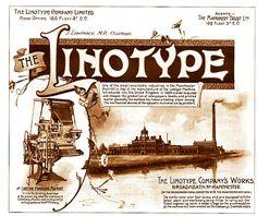 1895. Linotype Broadheath near Manchester advert