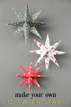 Christmas Paper Crafts ~ 18 Diy Inexpensive And Fun Project Ideas . Christmas Paper Crafts ~ 18 DIY Inexpensive and Fun Project Ideas diy christmas paper crafts - Diy Paper Crafts Diy Christmas Star, Paper Christmas Ornaments, Christmas Craft Projects, Diy Christmas Decorations Easy, Holiday Crafts, Christmas Holidays, Star Decorations, Vintage Christmas, Spring Crafts