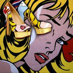 Artist Boyarde Messenger Hand Paints Charlotte Olympia's Dolly Pumps As Famous 20th c. Paintings.