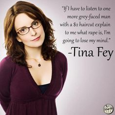 Thank you, Tiny Fey for calling out bullshit rape apologism! Who says feminists can't kick ass AND be funny??