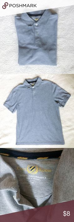 GRAY CLUB ROOM POLO This gray Club Room polo is in excellent used condition. No rips, holes, or stains and from a smoke free home. The fabric content is 60% COTTON • 40% POLYESTER. Club Room Shirts Polos