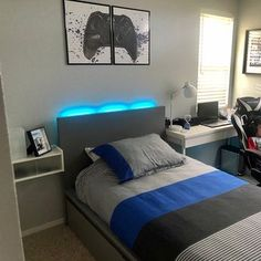 Gamer Bedroom, Bedroom Setup, Boys Bedroom Decor, Room Ideas Bedroom, Teen Boys Room Decor, Boys Bedroom Paint, Boy Bedroom Designs, Boys Room Design, Mens Room Decor
