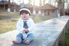 Photo @Karen Nickel Photography 2012    Hat ordered via Etsy and Knot Moxie: http://www.etsy.com/shop/knotmoxie    Tie Onesie and baby boy leggings via Etsy and Chic Couture Boutique:  http://www.etsy.com/shop/ChicCoutureBoutique    BOTH Shop owners are fabulous to work with and the quality is amazing!!!
