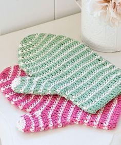 Crochet Bath Mitt Crochet Pattern - Download Excellent Printable Instruction Sheet