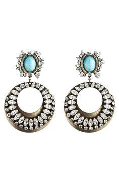 Dannijo Sade earrings from the F/W 2012 Collection - www.modaoperandi.com