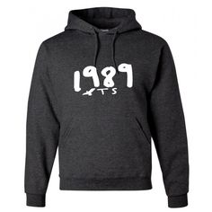 Taylor Swift Inspired 1989 Seagull Pullover Hoodie Dark Heather ($33) ❤ liked on Polyvore featuring tops, hoodies, grey, pullovers, sweaters, women's clothing, hooded sweatshirt, grey pullover hoodie, hoodies pullover and grey hoodies