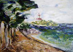 Aucanada Mallorca, oil on canvas, Öl auf Leinwand von sabine Katterle