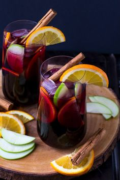 Spiced Fall Sangria - It's like Mulled Wine, but chilled!  | Culinary Cool www.culinary-cool.com