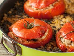 Stuffed Tomatoes with Brown Rice