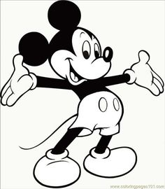 Mickey Mouse Coloring Pages Printable Mickey Mouse Head Coloring Pages   Az Coloring Pages