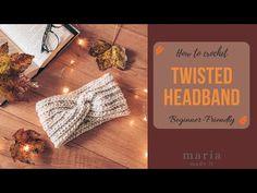 Πλεκτή Στριφτή Κορδέλα για Αρχάριους. - YouTube Twist Headband, Ear Warmers, Free Pattern, Hair Accessories, Head Bands, Youtube, How To Make, Diy, Bricolage