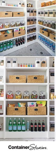 5 Steps to An Organized Pantry with Neat Method and The Container Store Pretty neat! See how our friends at Neat Method organized a pantry using some Kitchen Organization Pantry, Home Organisation, Organizing Ideas, Organized Pantry, Pantry Ideas, Storage Organization, Ikea Kitchen Storage, Pantry Room, Organizing Life