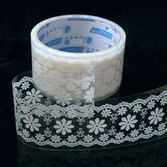 Lace Tape- Deco Tape-Deco Sticker-Lace Tape-Japanese Tape-Perfect for Valentines Day. $6.50, via Etsy.
