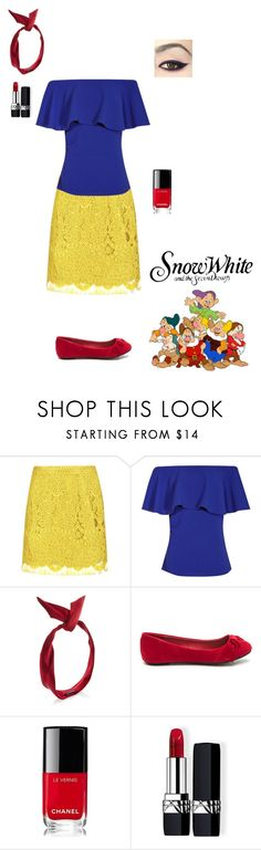 """Untitled #8940"" by erinlindsay83 ❤ liked on Polyvore featuring Boohoo, yunotme, Chanel and Christian Dior"