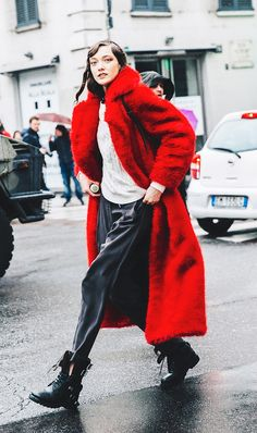 The Empowering Color That's All Over the Street Style Scene via @WhoWhatWear