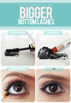 a secret I leaned waaaay back when I was 14, from a book by Marie Osmond, is to put a square of tissue (TP) under your bottom lashes and apply mascara...you get root to tip, and all the excess is on the tissue!  BRILLIANT!  I have been doing this trick for over 30 years!  :D
