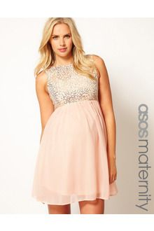 Asos Maternity Sequin and Chiffon Skater Dress - Lyst