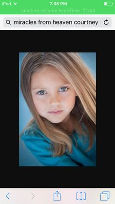 This is my step sister Courtney Dixon she is pretty famous if you have ever heard of Miracles From Heaven she is the main characters sister