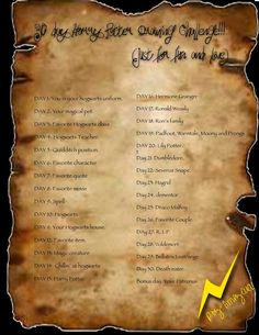 Oh my gosh! Harry Potter 30 Day Drawing Challenge! @Annie McDaniel