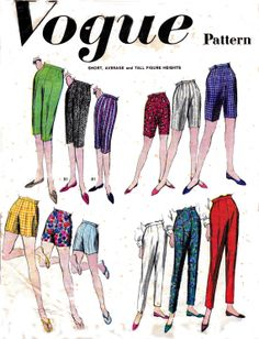 60s Proportioned High Waist Pants & Pedal by allthepreciousthings, $14.00