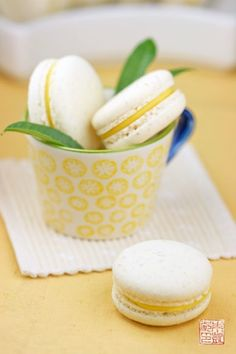 Lemon Verbena French Macaron Recipe with step by step directions and pictures