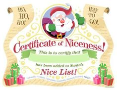 """Capture your child's Christmas wishes with our Santa letter template. Includes 3 free printable Santa letters and bonus """"Nice"""" certificate from Santa. Merry Christmas Wishes, Christmas Eve Box, Christmas Holidays, Christmas Letters, Xmas, Christmas Ideas, Christmas Envelopes, Christmas Jokes, Cozy Christmas"""