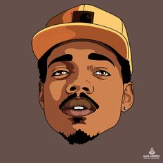 Chance The Rapper by @aliceadorno #rapper #music #illustration #ilustracao #cartoon #art #artwork #fanart #digitalart #photoshop #rap #illustrator #caricatura #barba
